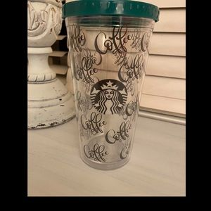 STARBUCKS TUMBLER CUPS WITH COFFEE SAYING (NEW)